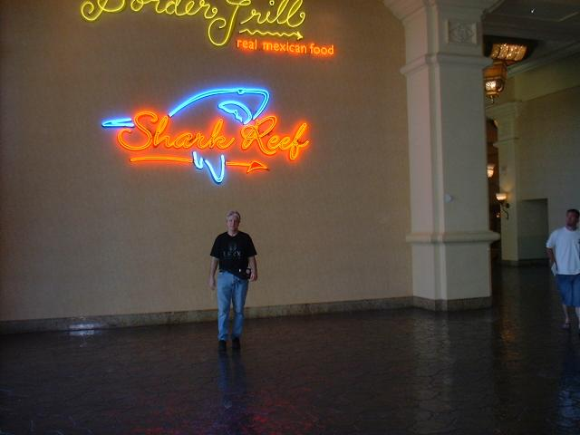 Marty on his way to see the Sharks on Saturday morning at the Mandalay Bay Hotel